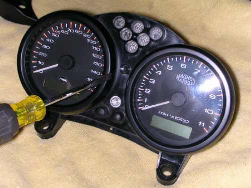 How to take your Instrument cluster/panel apart (2003 Monster