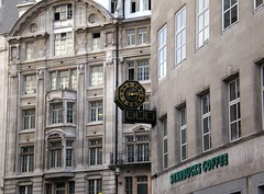 Where is this Starbucks? (kalmanzita) Tags: uk england london clock coffee sign geotagged cafe britain starbucks kingwilliamstreet gracechurchstreet squaremile ec3 eastcheap coffeestore guessedbyphotocat7 starbuckssign guessedbyjimenglish