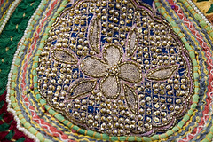 Fabric handcraft (Dey) Tags: india texture sewing craft fabric stitching rajasthan udaipur handcraft 2007
