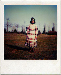 Carnevale (Mas-Luka) Tags: park carnival trees portrait italy girl childhood vintage polaroid costume child sister memories makeup retro 80s oldphoto eighties carnevale instantcamera bambino kodamatic fineartportrait francescasoffici