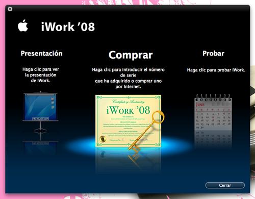 Captura de iWork 08