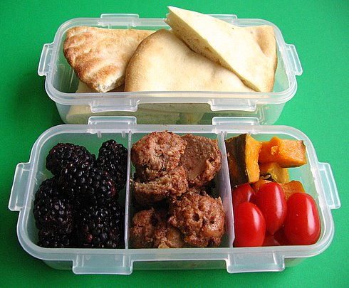Meatball lunch for preschooler