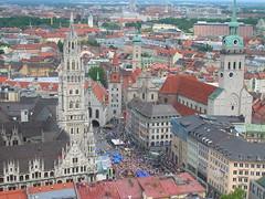 Birds-eye view of Munich