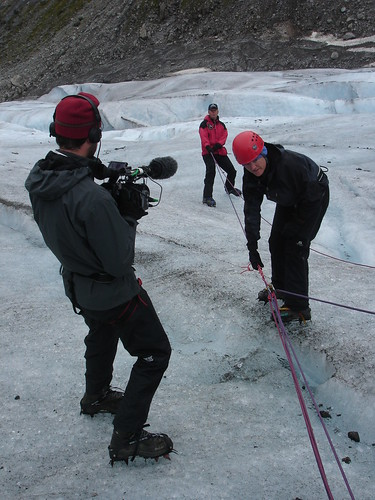 Caught on camera... crevasse rescue training