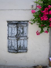 window at Spetses isl /    (vagaman.) Tags: old blue red sea summer white house color colour green tourism window colors beautiful wall fauna photoshop island greek flora colours village purple searchthebest time decay year vivid greece years damaged isl vill agean vil vagaman