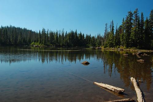 Muddy-bottomed lake