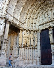 Chartres south portal (overthemoon) Tags: door summer sculpture france architecture holidays centre gothic saints entrance medieval september notredame archway middleages chartres moyenâge eureetloir 11th12thcentury southportal