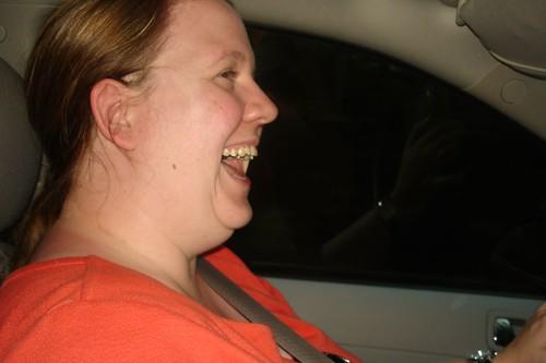 Beth driving