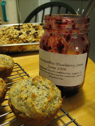 Muffins and jam