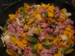 peppers onions and sausage