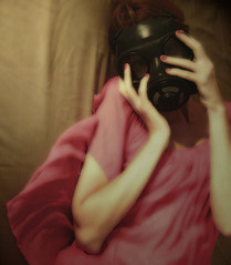 just breathe (hanna.bi) Tags: pink selfportrait myself gasmask hannabi 25faves