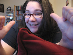 what has two thumbs and hates having fibromyalgia? (rivka yyz) Tags: selfportrait rachel 07 fibromyalgia feelingpoorly