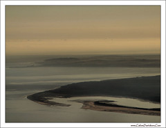Looking East on takeoff (ccgd) Tags: scotland saab moray inverness intheair stornoway loganair coastuk