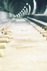 Train Love (Geecy) Tags: train subway hearts nikon bokeh tracks tunnel rails pacificnorthwest pnw fa railroadtracks nikonfa vintagefilm