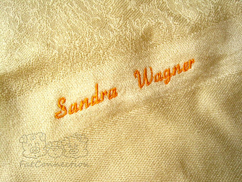 machine embroidery, personalised