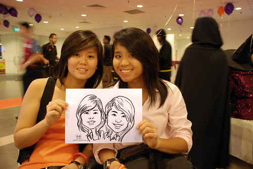 Caricature live sketching for NTU Alumni Club - 7