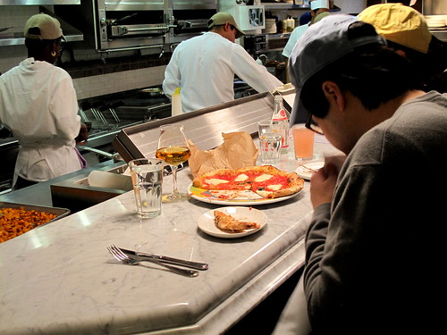 Spying on Pizza at Eataly - NYC
