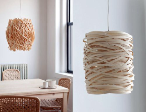 Woven wooden light shades are my fave | You Are My Fave