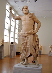 Temple Statue of Poseidon (greekgeek) Tags: sculpture art museum greek athens classical poseidon neptune ancientgreece greekart marblestatue cultstatue religiousartgreece