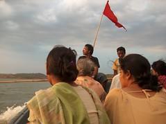 swadesh (sameer700) Tags: sunset lake rain river myself evening boat ride zoom cloudy flag air fast lonely launch orissa sikkim vizag gangtok swadesh koraput vishakhapatnam