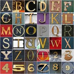 Gold letters and numbers (Leo Reynolds) Tags: fdsflickrtoys photomosaic alphabet alphanumeric abcdefghijklmnopqrstuvwxyz abcdefghijklmnopqrstuvwxyz0123456789 hpexif groupfd groupphotomosaics mosaicalphanumeric xratio11x xleol30x xphotomosaicx