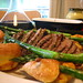 Roast beef and asparagus