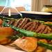 Roast beef and asparagus