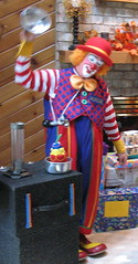 Abracadabra! (pirate johnny) Tags: party scary stripes clown magic scaryclown magictrick magicshow msh0607 msh060713 clownswilleatyou