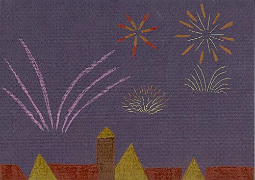 Fireworks easy artsy