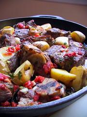 Roast lamb Roman style