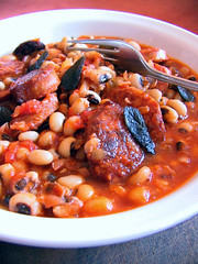 Blackeyed beans & sausage