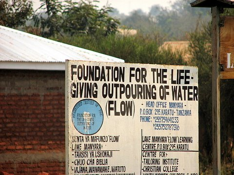 flow...water conservation project undertaken by Serena Lodges where we stayed