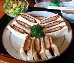 Fried Pork Cutlet Sandwich Lunch Set