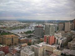 Vista de la ciudad de Portland. Oregon, USA
