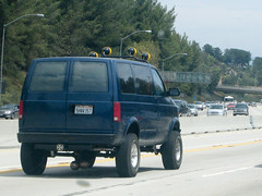 simi valley... again (Josh Williams) Tags: white trash iron cross balls valley freeway van testicles simi lifted