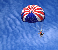 Not a flying dream. (dannytong123) Tags: canon parachute powershots60 blueribbonwinner amazingtalent canons60 mywinners flickrdiamond ysplix wonderfulworldmix syperbmasterpiece alohagroup dannytong123 top20vivid multimegashot rubyphotographer colorfullaward