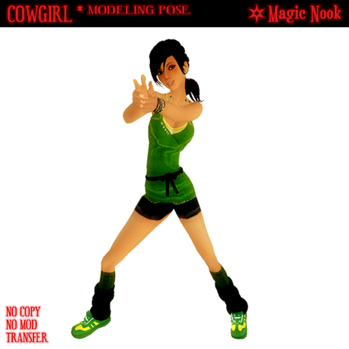 Cowgirl (Modeling Pose from Magic Nook)