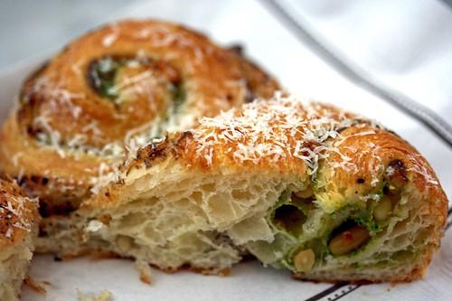 Pesto Croissant innards