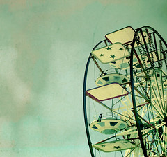 Little Stars (etherealwinter) Tags: summer sky parco vintage children stars carousel panoramic retro giostra giochi 2007 etherealwinter