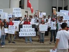 [Israeli protest]