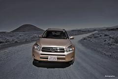 RAV4 (Motographer) Tags: california usa cars desert photoshopped sigma wideangle mojave toyota deathvalley 1020mm rav4 touring selectivecoloring motography motographer fotografikartz motograffer