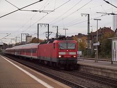 Br 143 Frankfurt Main Süd (Joost Boudewijns Trains) Tags: ice die fotografie br view frankfurt main 110 olympus db via ag express bahn hbf joost 142 regional panaorama e600 sudbahnhof esystem boudewijns