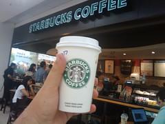 Na Starbucks com um mocha