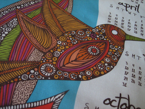 Hello 2011 Tea Towel Calendar details 01