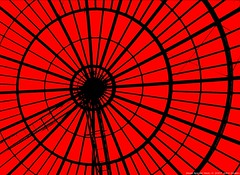 Steel  Spider Web (Heaven`s Gate (John)) Tags: red black art topf25 silhouette architecture photoshop steel dramatic coventry spidersweb effect bronly 25faves johndalkin heavensgatejohn