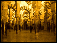 La Mezquita.- (ancama_99(toni)) Tags: old trip travel vacation espaa sun house holiday color building art church yellow arquitetura sepia architecture photoshop geotagged temple photography gold photo interestingness interesting andaluca spain nikon espanha europa europe cross cathedral photos religion catedral vivid mosque photographic andalucia explore amarillo temples cordoba coolpix mezquita sur iglesias andalusia crdoba coolest espagne templo groc 2007 oro 1000views catedrales lamezquita artisticexpression 50faves e2100 35faves 25faves abigfave p1f1 aplusphoto holidaysvacanzeurlaub superbmasterpiece goldenphotographer diamondclassphotographer ysplix ancama99 colourartaward interesantsimo goldstaraward
