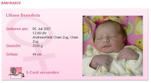 Geburtsanzeige Andreasklinik Cham
