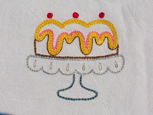 Bundt Cake embroidery