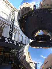 Big Silver Balls (sobriquet.net) Tags: city reflection silver balls australia adelaide sa southaustralia borders rundlemall pc5000 auspctagged