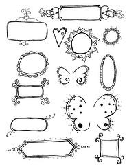 Doodle Labels Sticker Sheet